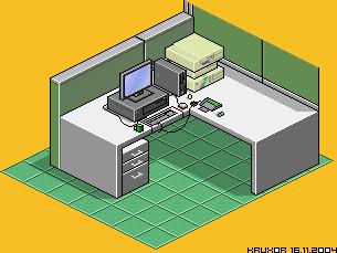 My Desk at Work by kruxor