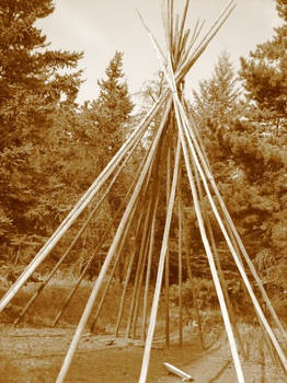 Inner structure of a tipi.