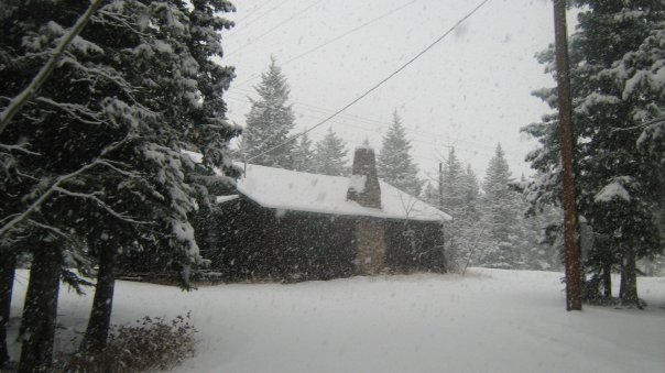 The snow begins to fall...