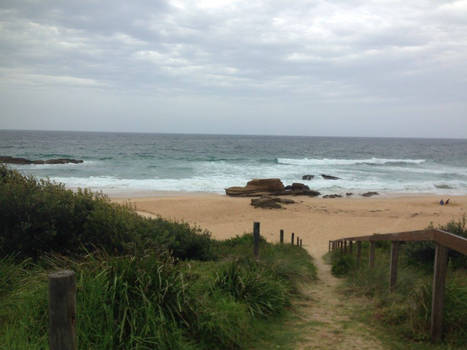 The beach, Bermagui NSW