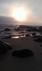 At the rocks