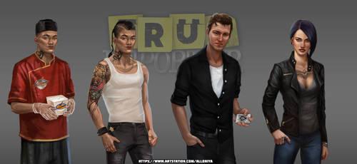 Game characters by Alloniya