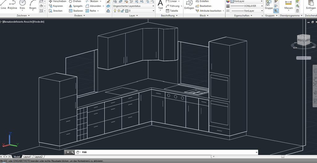 Kitchen 3d Autocad By Handwerker2 0 On Deviantart