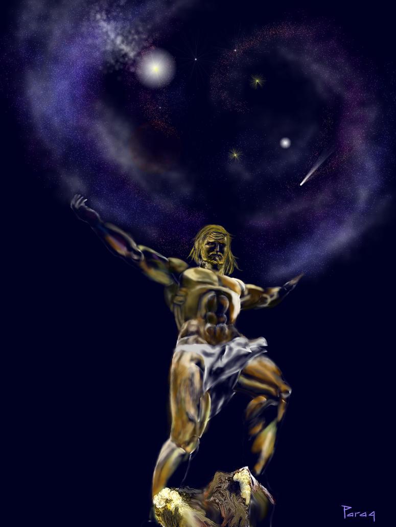 atlas holding the heavens by paragpendharkar on deviantart