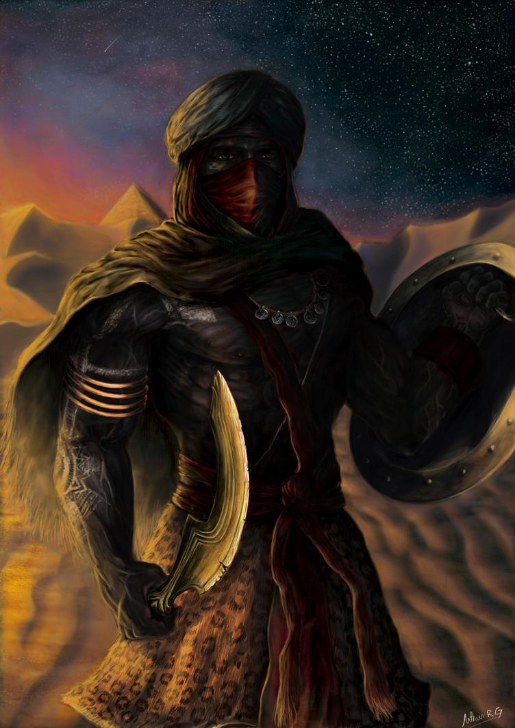 Nubian Mercenary by ArthurRoberto