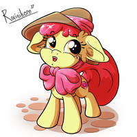 Applebloom in a Hat by Rainihorn
