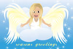 Eloquent Angel Christmas Card