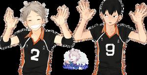 [ RENDER ] [ Haikyuu ] Sugawara and Tobio