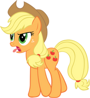 Applejack is disgust by RichHap