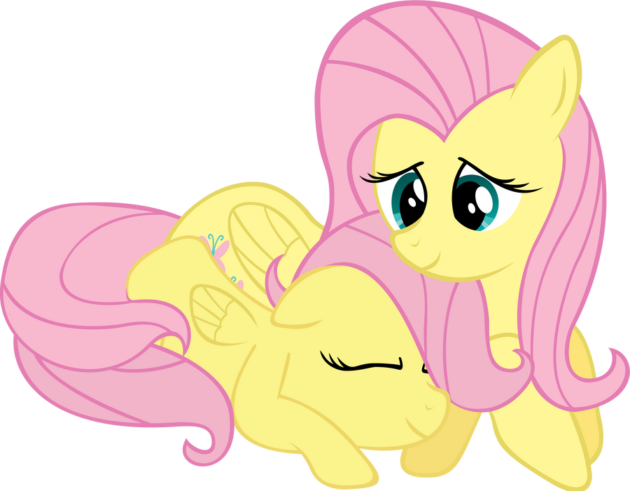 Request - Fluttershy with her younger self by RichHap