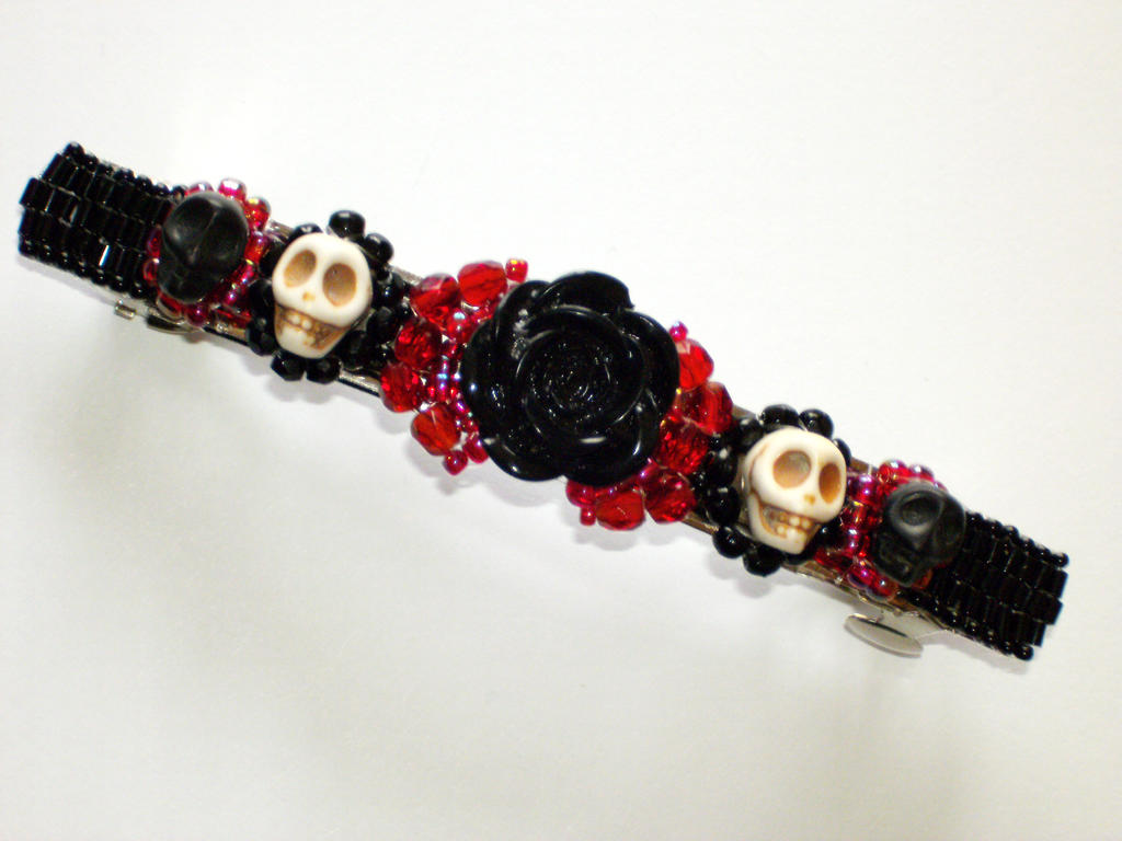 Gothic Skull Barrette by Serpentrinity