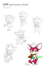 CHIP-expressions sheet by Kyunae