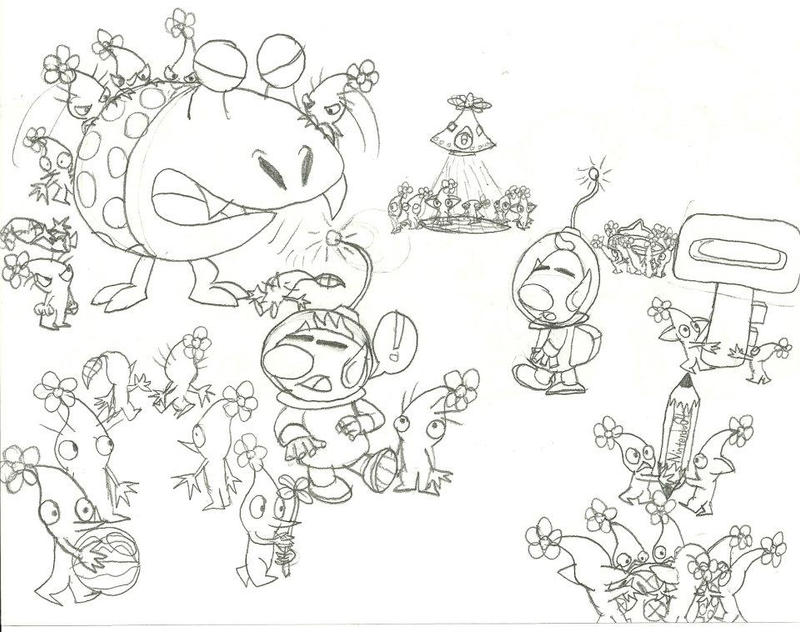pikmin bulborb coloring pages - photo#6