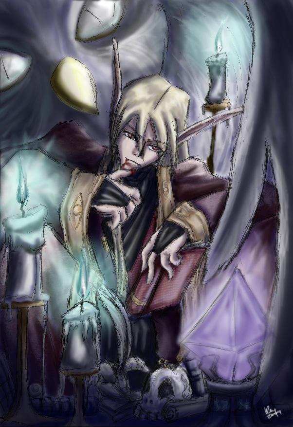 Random Char - Elven Warlock by bluphino