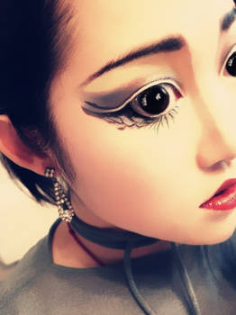 Asian stage make up.