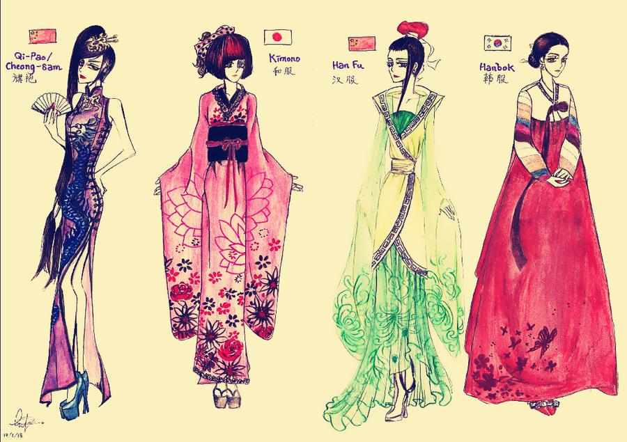 Traditional Asian Attire Demo. by 0OBluubloodO0