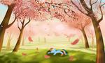 Rainbow and sakura