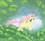 Fluttershy in a forest
