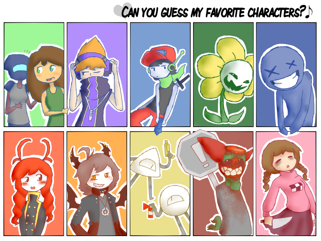 Can you guess my favorite characters? by NekuZ