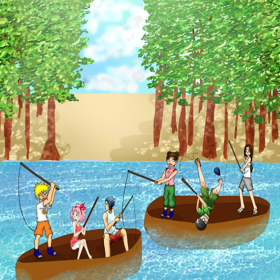 Summer camp fishing by myomi chan on deviantart for Fishing summer camp