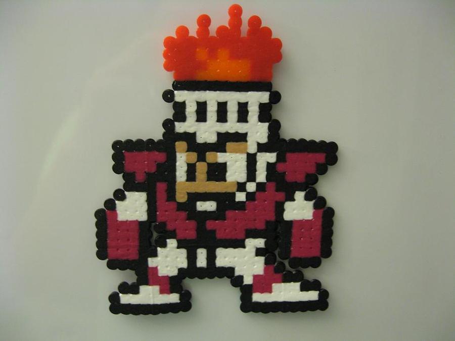 FireMan bead sprite by ktyure