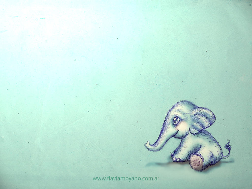 Top Wallpaper Cartoon Elephant - little_elephant_wallpaper_1024x768_by_seethemagic-d4rtlq5  Best Photo Reference_699479  .jpg