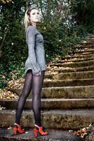 Rachael on the stairs by PhilWinterbourne