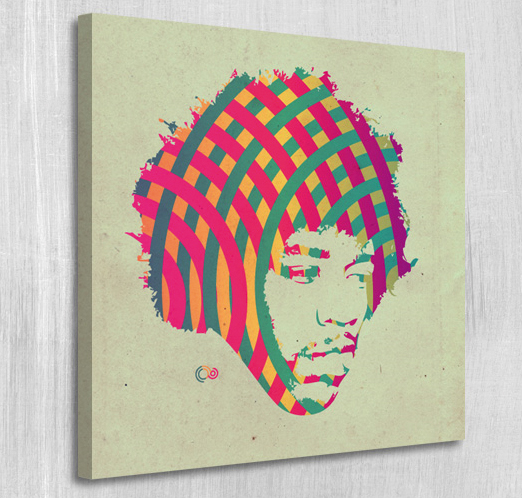 Jimi Hendrix canvas print by Par4noid