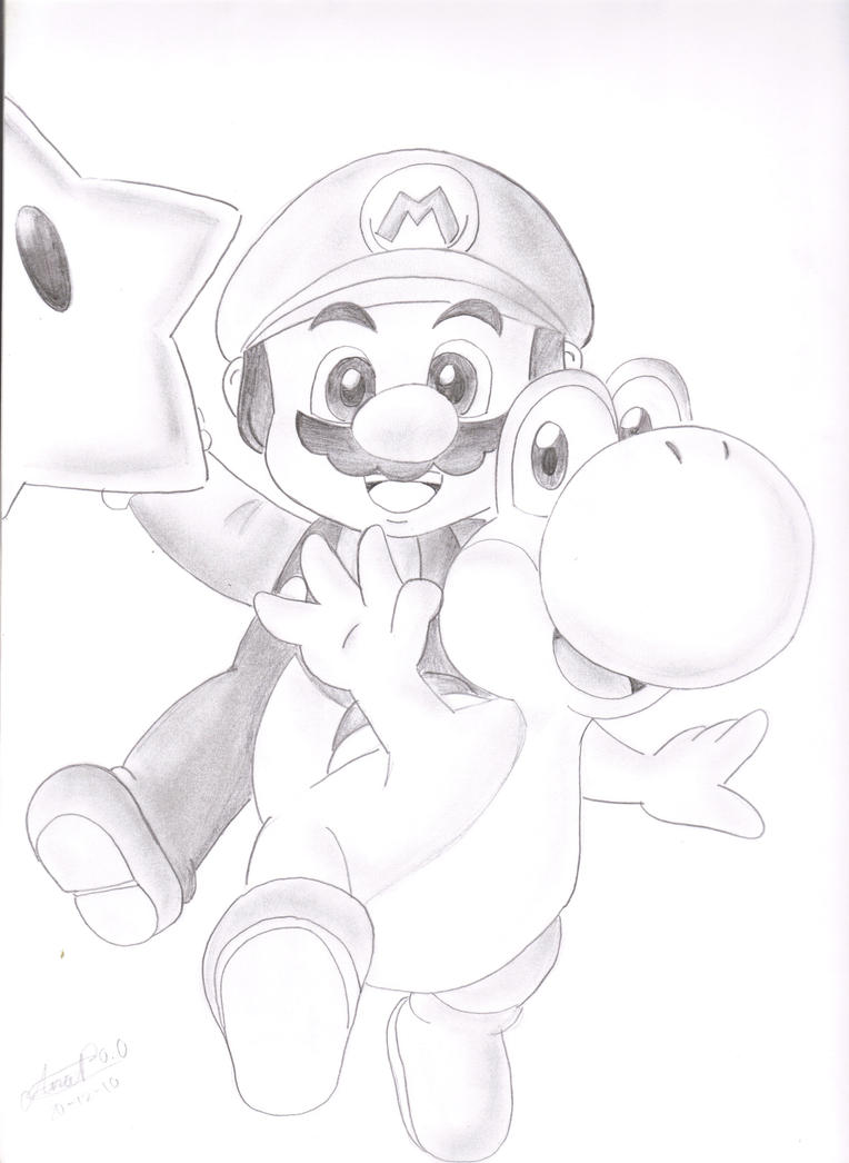 MAH BEST DRAWING OF MARIO by xXAna-ChanXx on DeviantArt