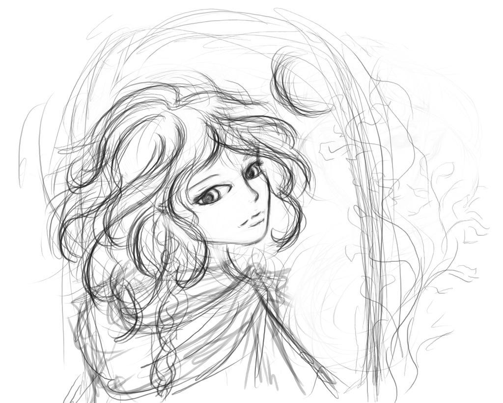 sketch moon angel by wagataw on deviantart