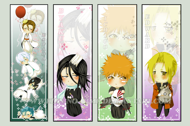 Chibi Bookmark Set by Eien-no-hime