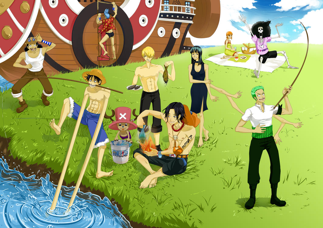 One piece picnic by Eien-no-hime