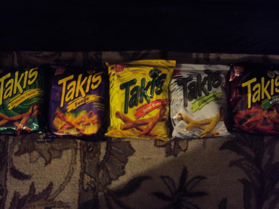 Takis Five Actual Flavors by zekeNskullers