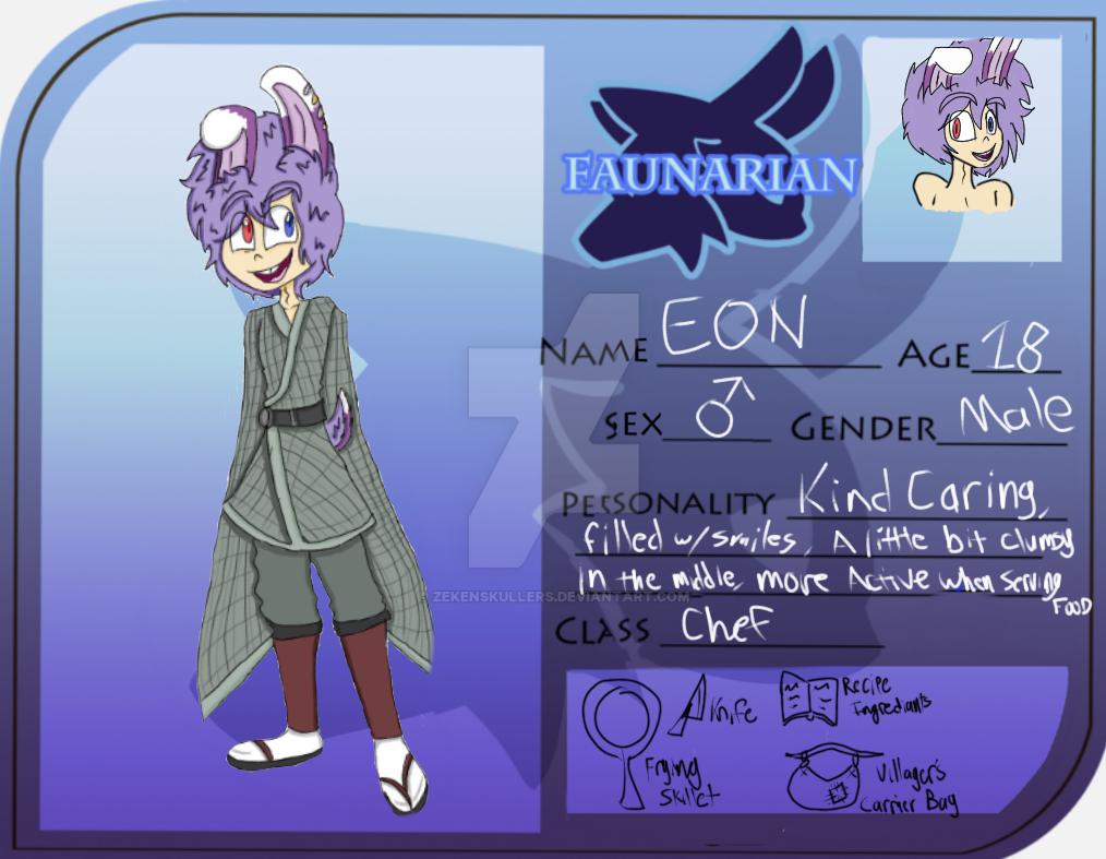 Realm of Alkrem - Eon - Faunarian Oc by zekeNskullers