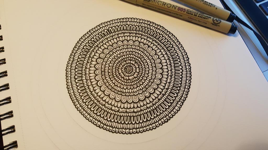 Bloom Mandala... a little more work in progress by simmy1984