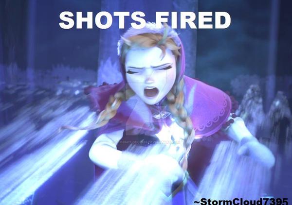 shots fired  frozen meme by stormcloud7395 on deviantart
