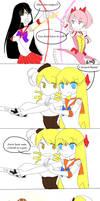 Sailor Moon meets Puella Magi by Mikabunni