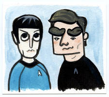 Spock and Kirk by TRAVALE