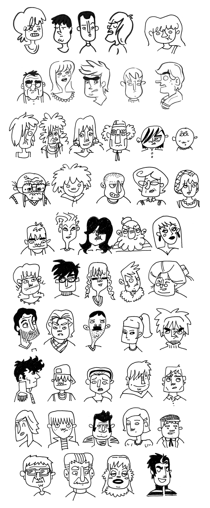 50 character sketches by TRAVALE
