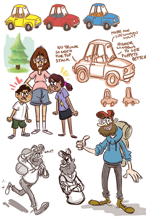 Pitch sketches by TRAVALE