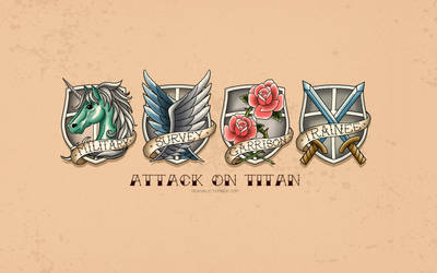 Attack on Titan Tattoo by TRAVALE