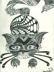 Cat Drawing by xamandur