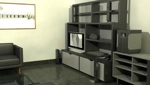 PSP Wallpaper 3D room