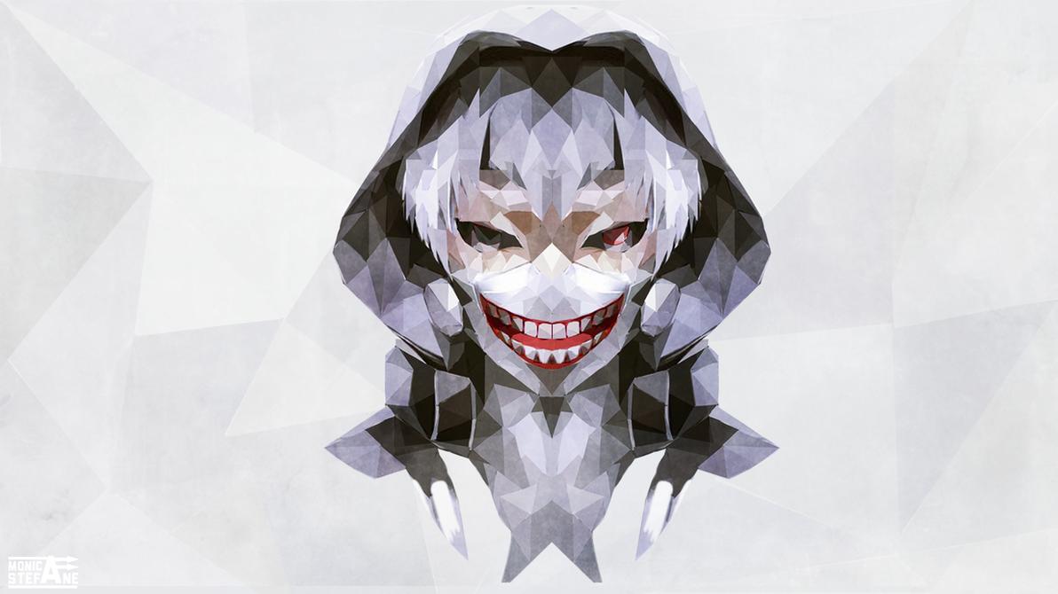 Tokyo Ghoul Kaneki Ken Minimalistic Low Poly By