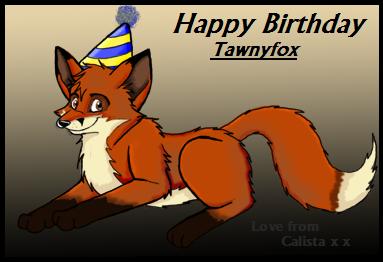 Late Birthday Gift-Tawnyfox by calistamonkey