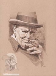 Churchill drawingweb by Jeffherndraw