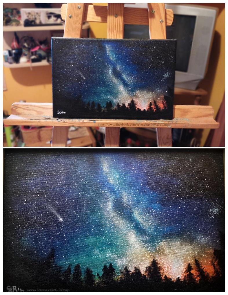Galaxy landscape by Reku-chan569
