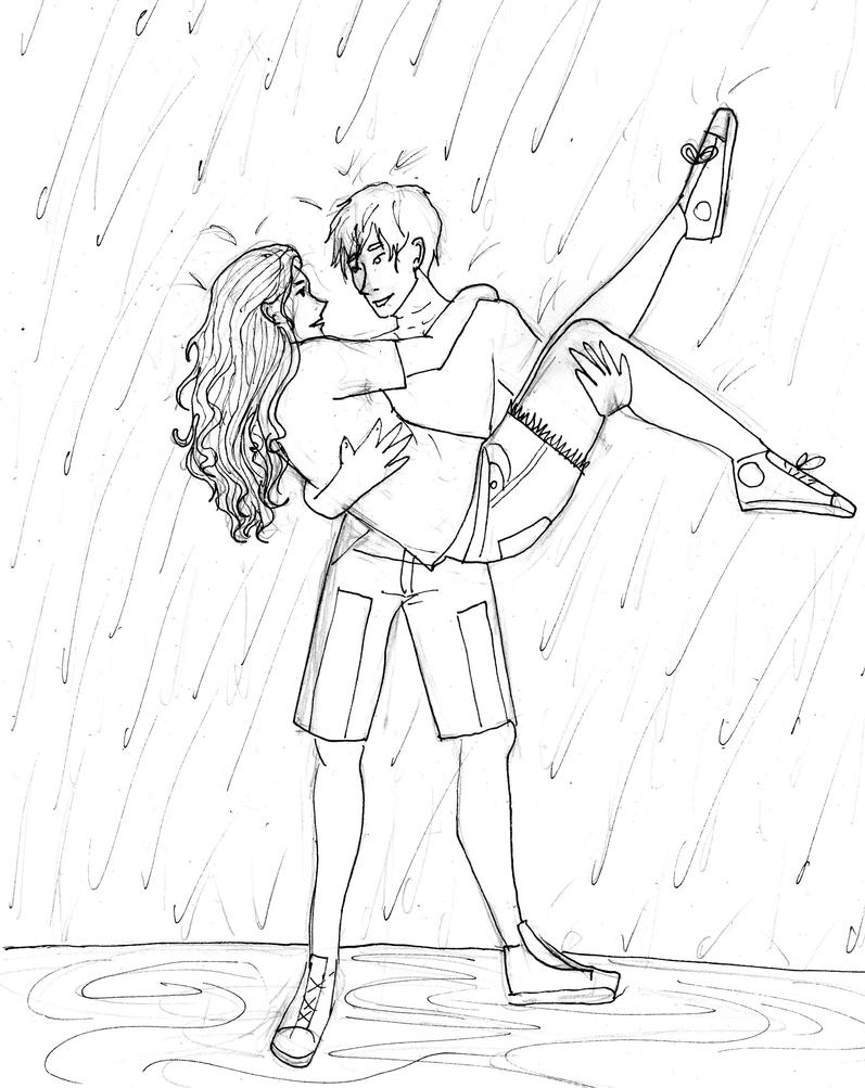 dancing in the rain coloring page in the by unbelivabledifferent on deviantart 7655
