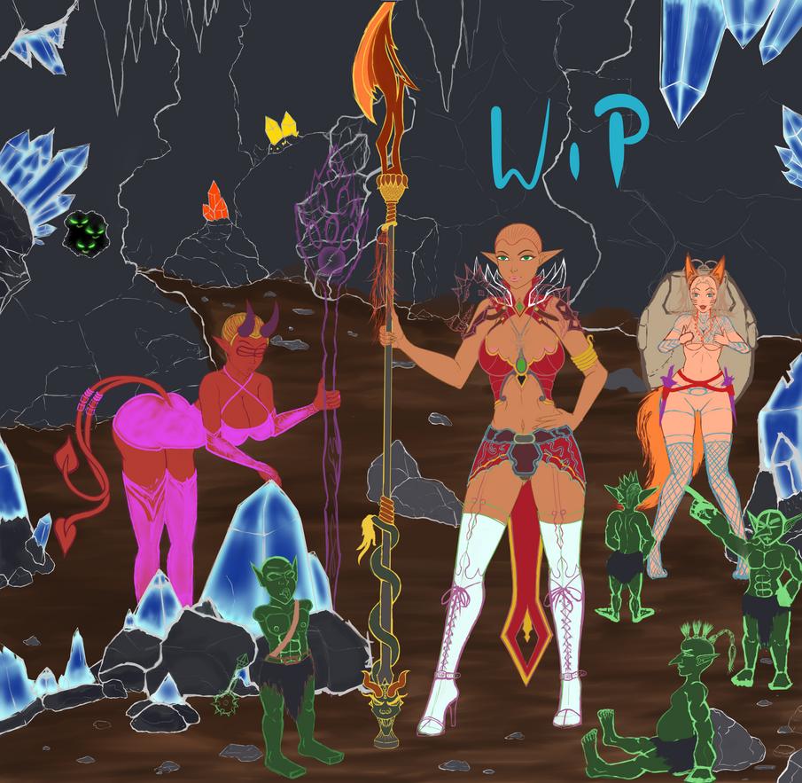 Dungeon Girls by DaChilla74