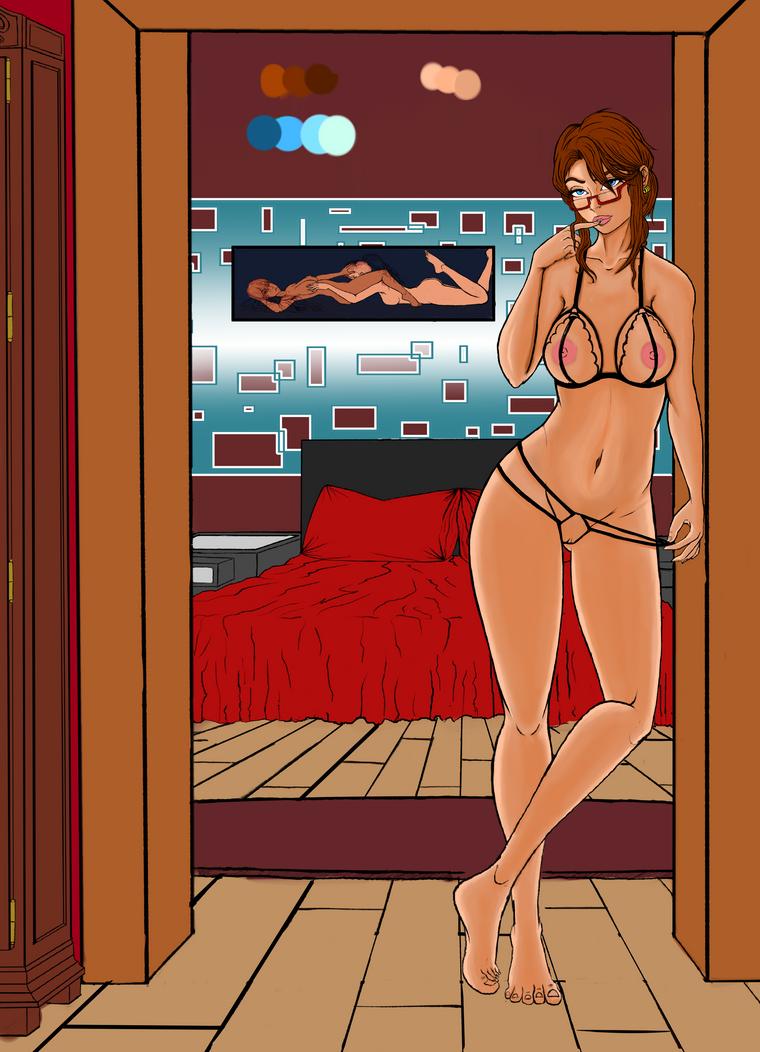 Bedroom Girl by DaChilla74
